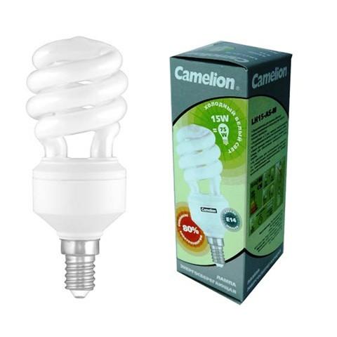 Лампа энергосберегающая Camelion LH 20-FS-T2-М 20W E14 4200К спираль.