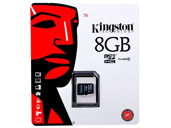 KINGSTON 8GB MICRO SDHC CLASS 4 БЕЗ АДАПТЕРА
