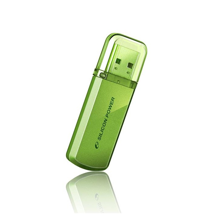 ФЛЭШ-КАРТА SILICON POWER 16GB 101 GREEN HELIOS USB 2.0