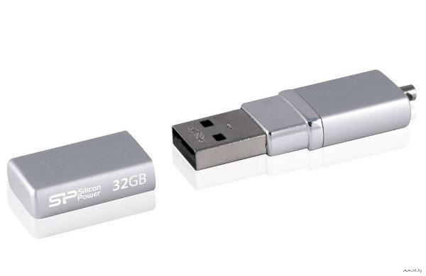 ФЛЭШ-КАРТА SILICON POWER  32GB 710 LUX MINI SILVER USB 2.0