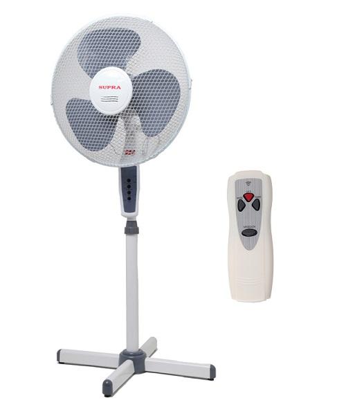 АВК-Маркет Носители информации / Вентилятор SUPRA VS-1605 с пультом бело-серый 50вт 3 скорост