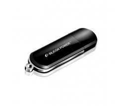 ФЛЭШ-КАРТА SILICON POWER  32GB 322 BLACK LUXMINI USB 2.0