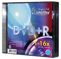 SMART BUY DVD+R 16X SLIM BOX/5  (200)