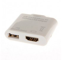 OXION АДАПТЕР (ADP008) iPhone4/4S/30PIN(M)-HDMI/US...